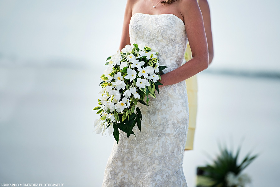 Belize wedding bouquet.  Caye Caulker wedding, Iguana Reef Inn.