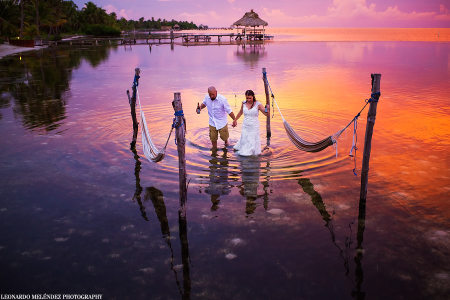Belize wedding photography, Portofion Resort, Ambergris Caye. Leonardo Melendez Photography.