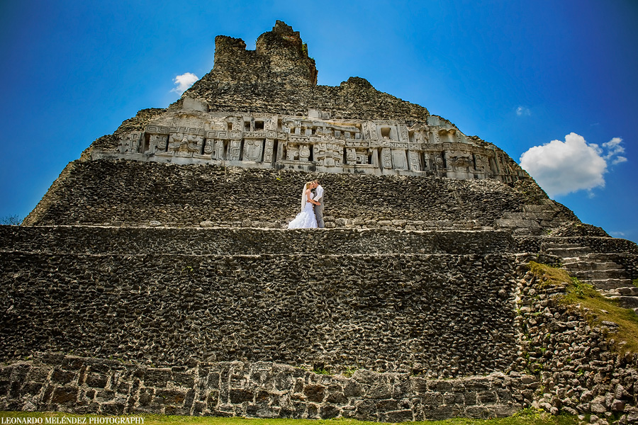 Xunantunich Mayan Ruins wedding photography - Day After Session. Belize wedding photography by Leonardo Melendez Photography.