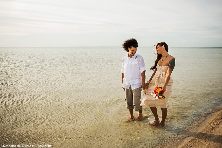 Belize wedding, Ambergris Caye, Belize. Leonardo Melendez Photography.