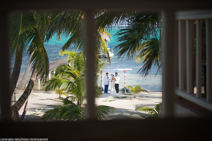 Belize beach wedding, Ambergris Caye