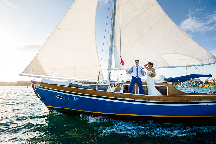 Belize sailboat wedding, Belize wedding photography, Ambergris Caye