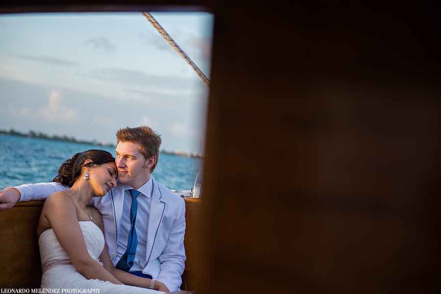 Belize sailboat wedding, Ambergris Caye
