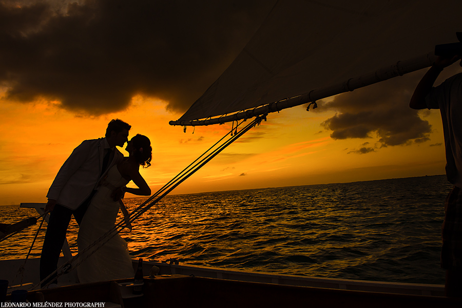Belize sailboat wedding, Ambergris Caye, Belize wedding photographer