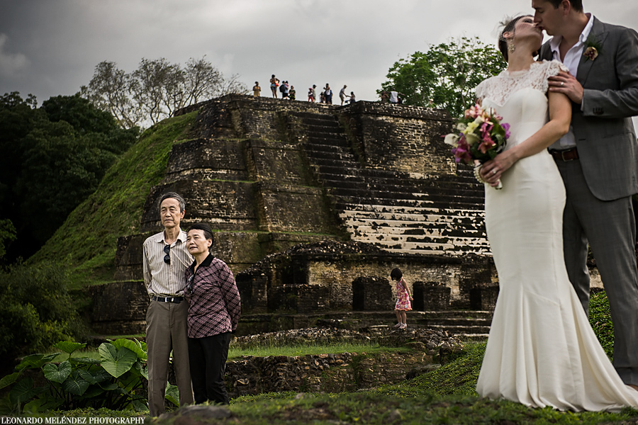 Altun Ha Mayan Ruins wedding photography - Day After Session.  Belize wedding photographer - Leonardo Melendez Photography