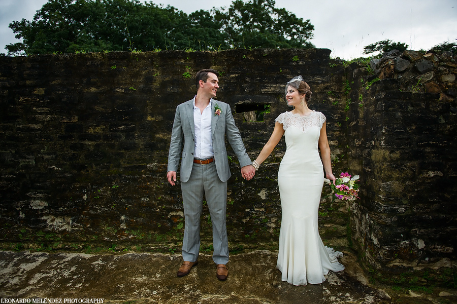 Altun Ha Mayan Ruins wedding photography - Day After Session.  Belize wedding photography by Leonardo Melendez Photography