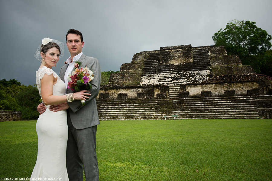 Belize Mayan Ruins wedding, Altun Ha.  Belize wedding photography by Leonardo Melendez Photography.