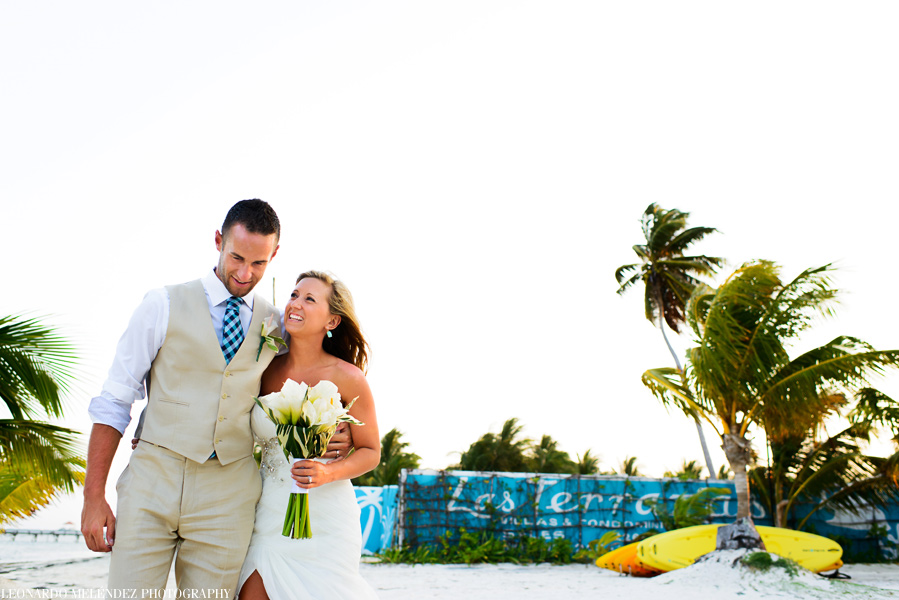 Ambergris Caye Belize wedding. Belize wedding photographers, Leonardo Melendez Photography