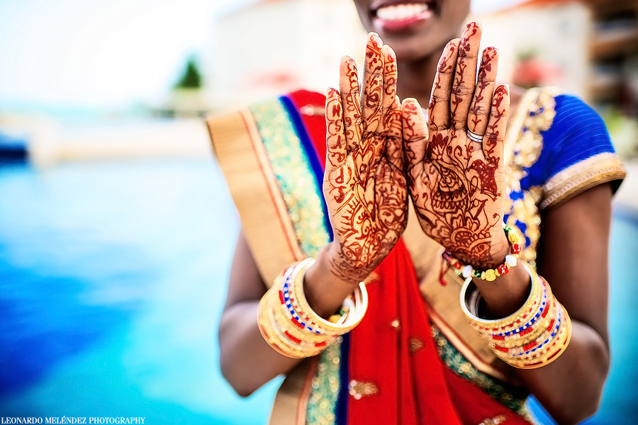 Belize Hindu Destination wedding at Grand Caribe. Belize wedding photography by Leonardo Melendez Photography.
