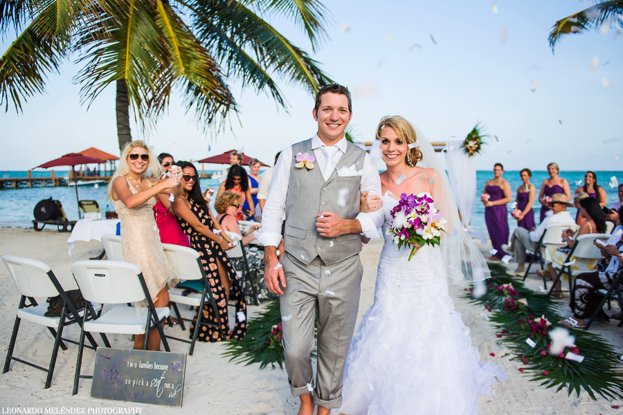 Grand Caribe Belize wedding. Belize wedding photography, Leonardo Melendez Photography.