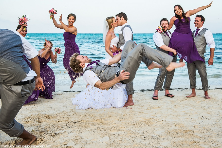 Belize wedding photography. Grand Caribe Belize wedding. Leonardo Melendez Photography.