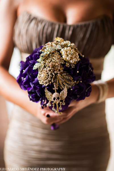 Wedding bouquet.  Belize wedding photography by Leonardo Melendez Photography.