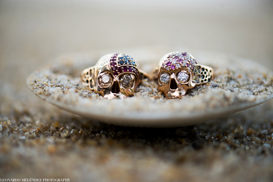 Wedding rings at Hopkins Belize wedding.  Leonardo Melendez Photography.