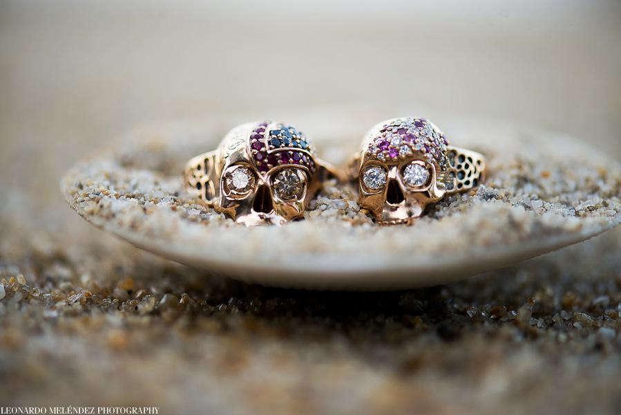 Wedding rings at Hopkins Belize wedding.  Leonardo Melendez Photography.