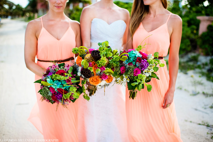 Bridal Bouquet.  Coco Beach Resort wedding, Ambergris Caye.  Leonardo Melendez Photography.