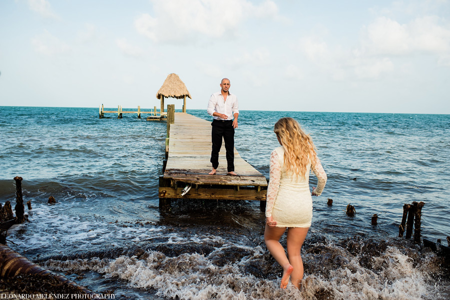 Romantic After Session at Turtle Inn. Belize wedding photographers, Leonardo Melendez Photography.