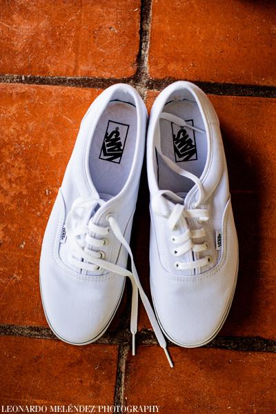 Groom's Shoes. Belize wedding photographer - Victoria House wedding
