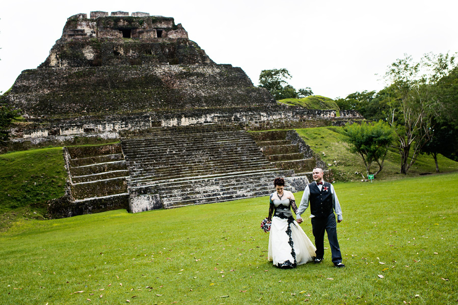 xunantunich mayan ruins wedding belize