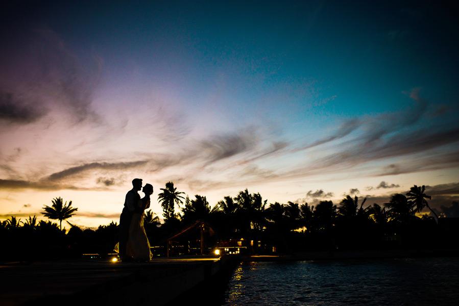 Beach wedding at the sandbar on Ambergris Caye, Belize.