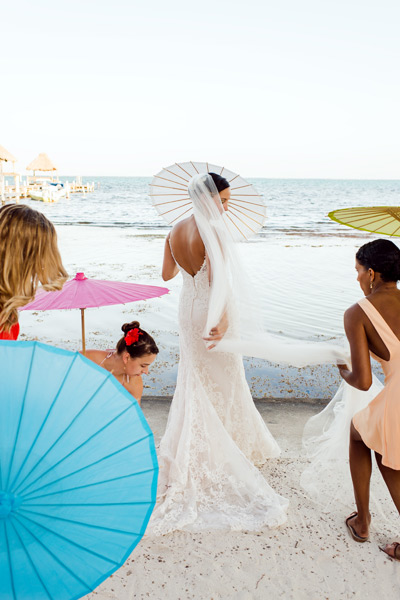 Ambergris Caye beach wedding at Caribe Island Condos. Belize wedding photographers, Leonardo Melendez Photography.