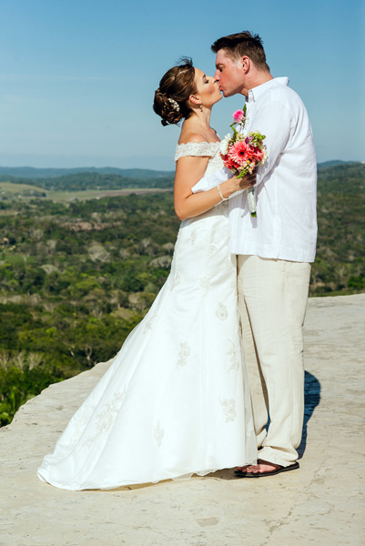 Belize weddings Xunantunich Mayan Ruins