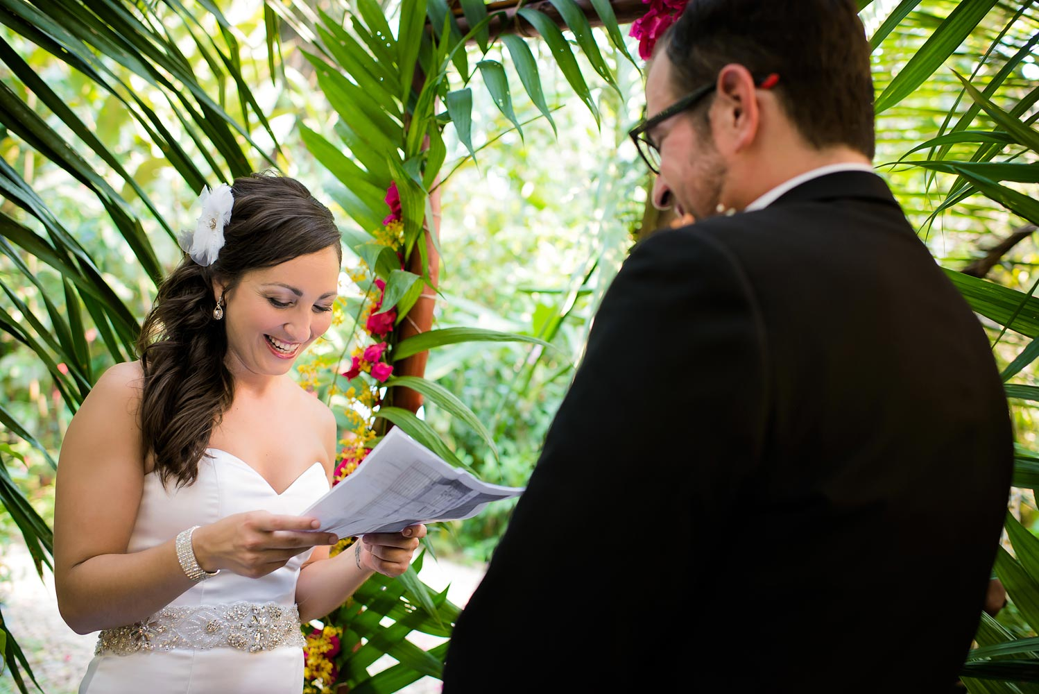 Caves Branch Belize wedding, garden wedding