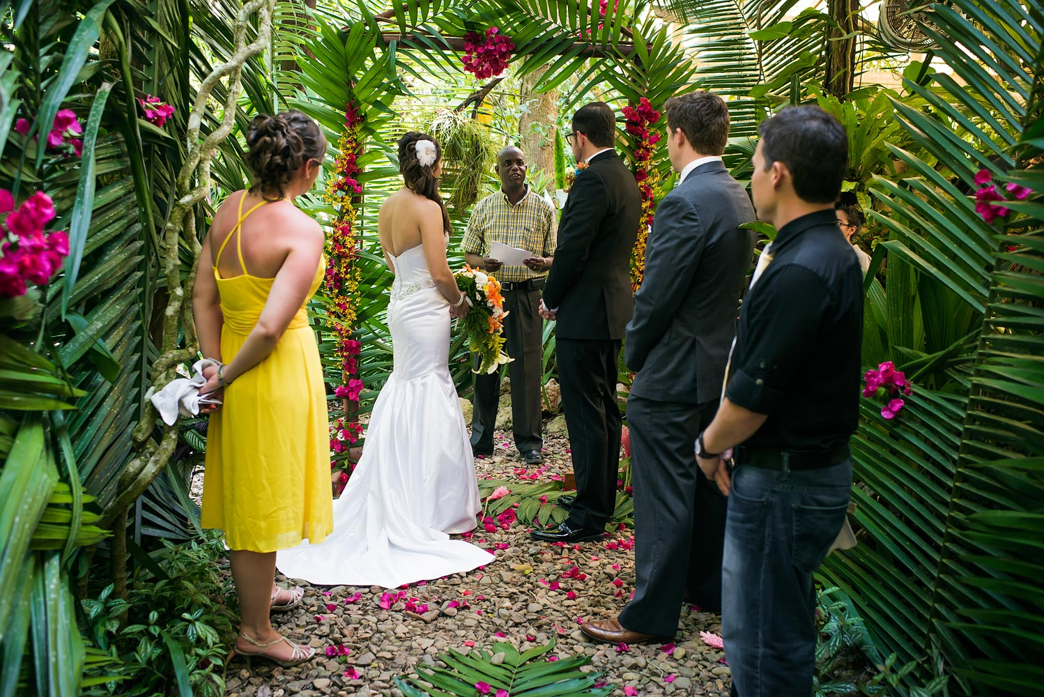 Caves branch belize garden wedding