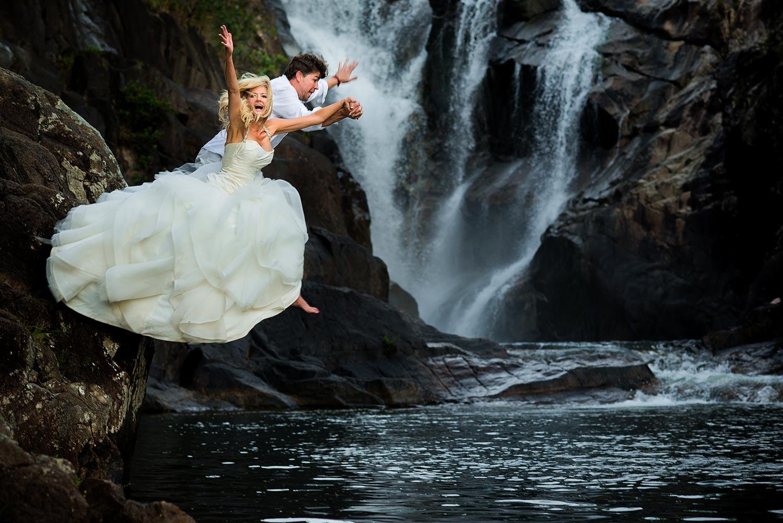 Waterfall Trash The Dress In Belize