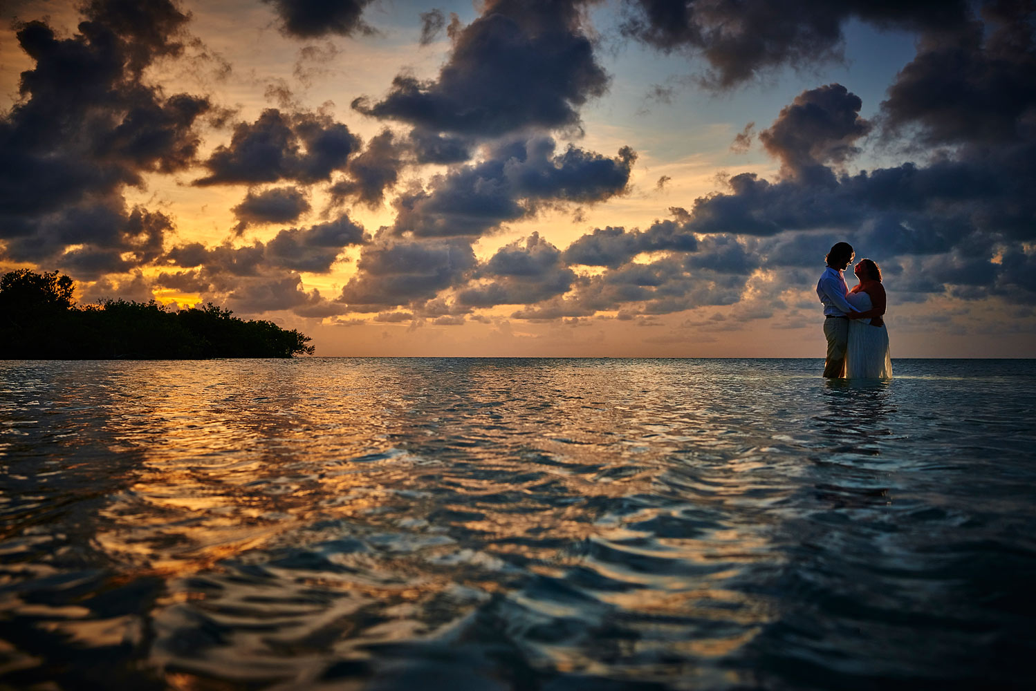 Matachica sandbar wedding belize